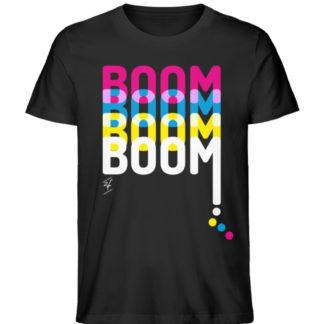 Papaya T-Shirt - Boom Black Unisex - Herren Premium Organic Shirt-16