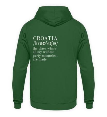 Croatia Quote Hoodie - Orange Unisex - Unisex Kapuzenpullover Hoodie-833