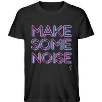 Papaya T-Shirt - Make Noise Black Unisex - Herren Premium Organic Shirt-16