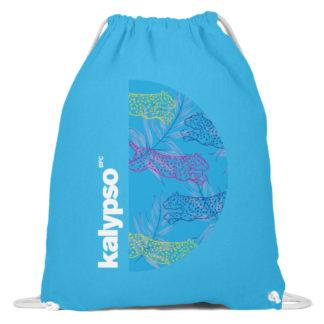 Kalypso Gymbag- Logo Turquoise - Baumwoll Gymsac-6242