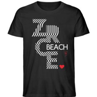 Papaya T-Shirt - Zrce Beach Black Unisex - Herren Premium Organic Shirt-16